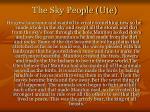 the sky people ute