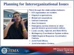 planning for interorganizational issues