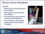 private sector donations