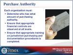 purchase authority
