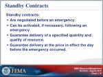 standby contracts