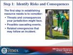 step 1 identify risks and consequences