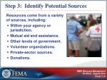 step 3 identify potential sources
