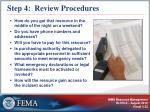 step 4 review procedures