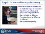 step 5 maintain resource inventory