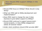how should ifad support swaps in the region