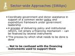 sector wide approaches swaps