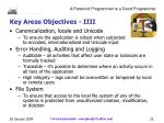 key areas objectives iiii