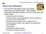 know your attackers