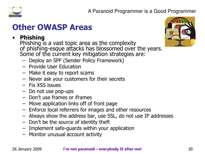 Other OWASP Areas