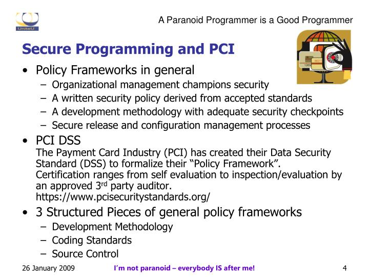 Secure Programming and PCI