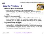 security principles i