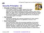 security principles ii