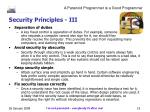 security principles iii
