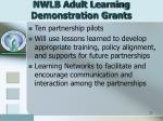 nwlb adult learning demonstration grants