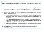 the cost of market transaction taken into account