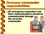 on scene commander responsibilities