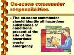 on scene commander responsibilities1