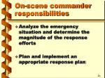 on scene commander responsibilities2