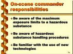 on scene commander responsibilities4