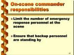 on scene commander responsibilities5