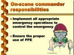 on scene commander responsibilities7