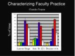 characterizing faculty practice chandra turpen