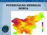 potencialna energija sonca