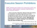 executive session prohibitions1