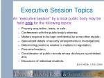executive session topics