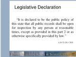legislative declaration