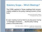 statutory scope which meetings