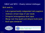 dmac and wis closely related challenges