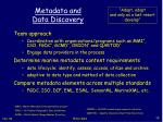 metadata and data discovery