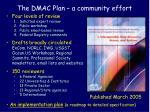 the dmac plan a community effort1