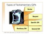 types of testamentary gifts