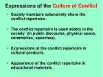 expressions of the culture of conflict