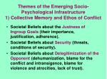 themes of the emerging socio psychological infrastructure 1 collective memory and ethos of conflict