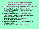 themes of the emerging socio psychological infrastructure 2 collective memory and ethos of conflict