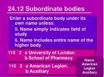 24 12 subordinate bodies2