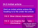 24 5 initial article