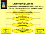 classifying leases
