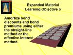 expanded material learning objective 6
