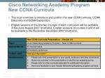 cisco networking academy program new ccna curricula