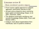 literature review ii brain circulation s positive impacts