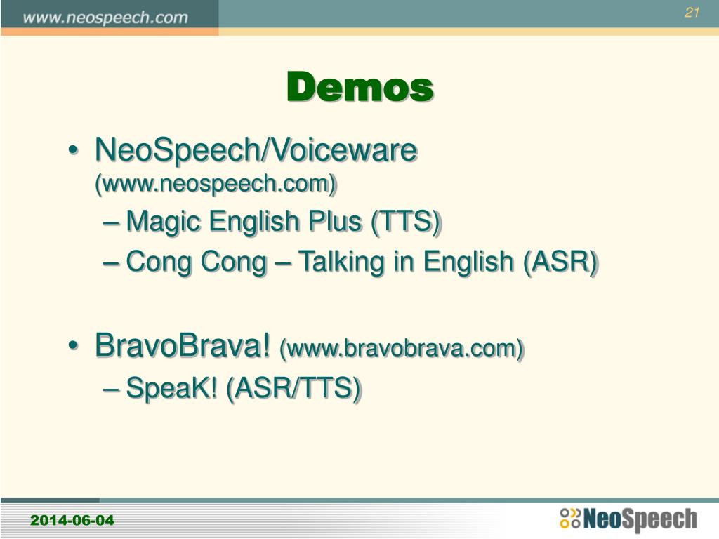 PPT - Speech Technology for Language Learning PowerPoint