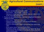 agricultural communications cont