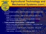 agricultural technology and mechanical systems cont