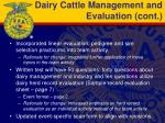 dairy cattle management and evaluation cont1
