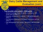 dairy cattle management and evaluation cont2